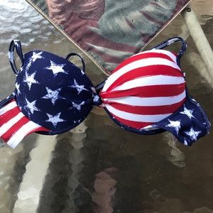 American flag swimsuit - size large